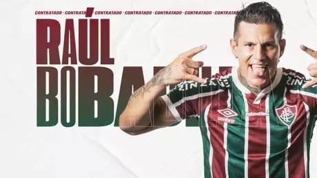 Raúl Bobadilla foi anunciado pelo Fluminense no último sábado (Foto: Reprodução/site do Fluminense)
