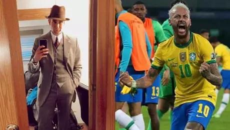 Matthew Lewis chamou Neymar de 'patético' na Copa do Mundo de 2018 (Montagem LANCE!)
