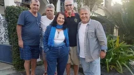 Zico em foto com a família (Foto: Reprodução)