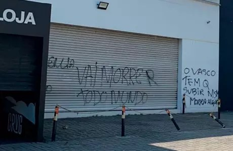 Crimes foram cometidos perto da loja Gigante da Colina do estádio do Vasco (Foto: Print/Vasco)