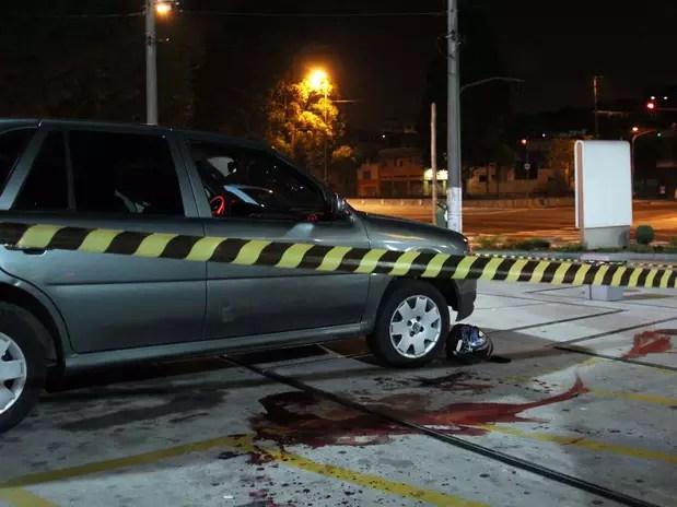 Policial foi baleado e morto em um posto de gasolina na zona leste de São Paulo Foto: Edison Temoteo / Futura Press