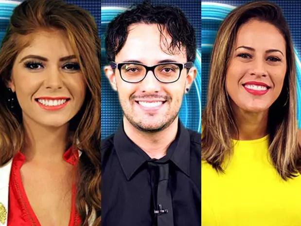 Amanda, Alisson e Princy foram os escolhidos para a berlinda Foto: TV Globo / Divulgação