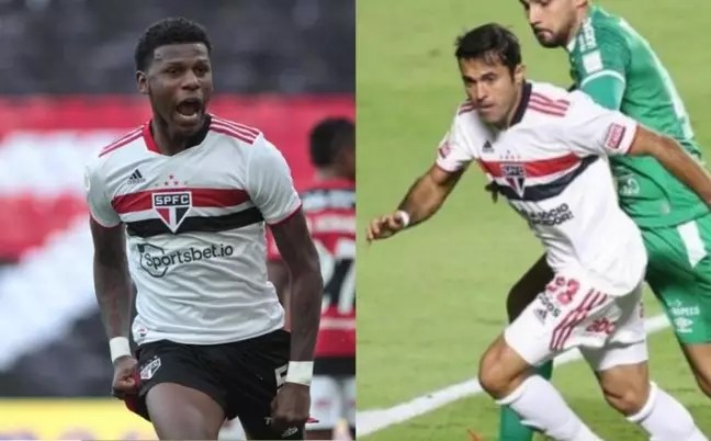 Arboleda and Eder have been targets of speculation in recent days (Photos: Rubens Chiri and Paulo Pinto / saopaulofc.net)