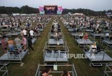 Photo of Penampakan Konser Musik Dengan Social Distancing