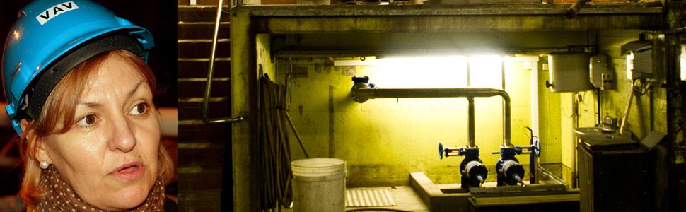 Eli Grimsby i Oslo Kommune liker dårlig at folk tar seg inn i deres anlegg (Foto: Oslo Kommune, og NRK)