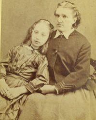 Mor og datter. Tatt en gang under den amerikanske borgerkrigen