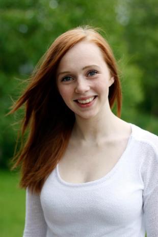 Hilde Mari Wenstad (15), leder i Elevorganisasjonen (EO) i Finnmark. (Foto: Karianne Andersen)