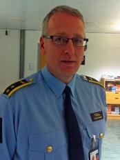 Tor Fredriksen, kontorsjef i Tollvesenet på Gardermoen. (Foto: Ellen Omland, NRK)