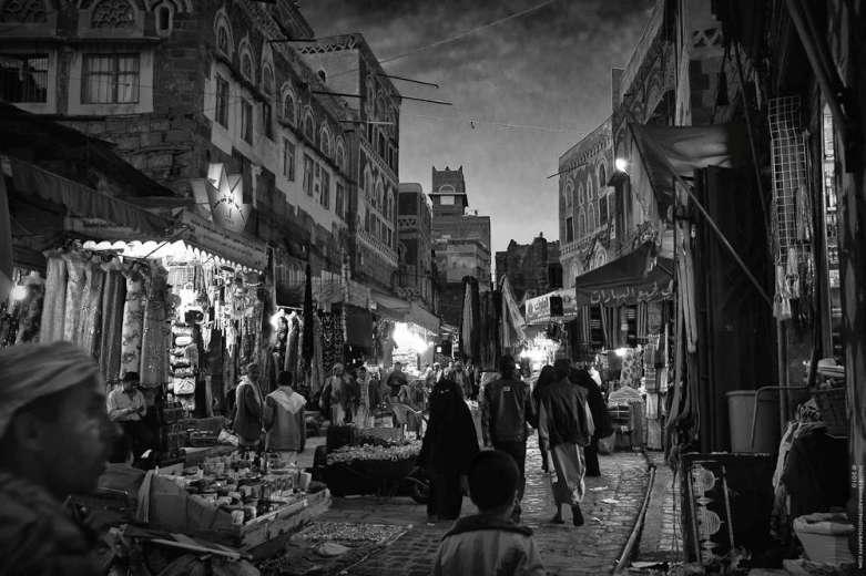 Nattmarked i hovedstaden Sana'a i Jemen. (Foto: Ingo Bernhardt / CC BY 2.0)