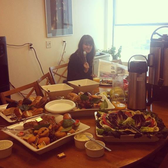 Uten mat og drikke ... (Foto: Sarah Winona Sortland, Instagram)