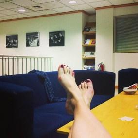 """""""Siste dag på konsulatet/FN-delegasjonen. Ble casual her også"""" (Foto: Sarah Winona Sortland, Instagram)"""