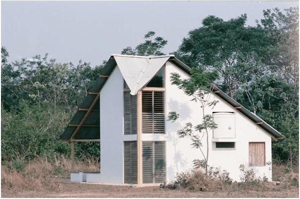 Et økovennlig hus i Gaviotas i Colombia (Foto: Centrolasgaviotas.org)