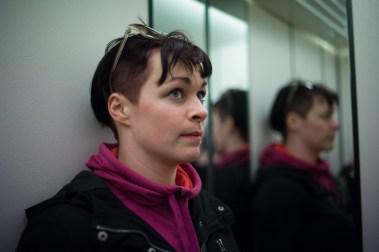 Inger Marie Lampe-Lupton (26) er på etterkontroll, for å sjekke at alt står bra til etter aborten hun nettopp tok. (Foto: Lars Erik Skrefsrud, NRK)