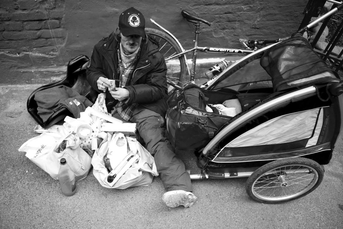 Hans Petter med sine greier. (Foto: Simen Øvereng)