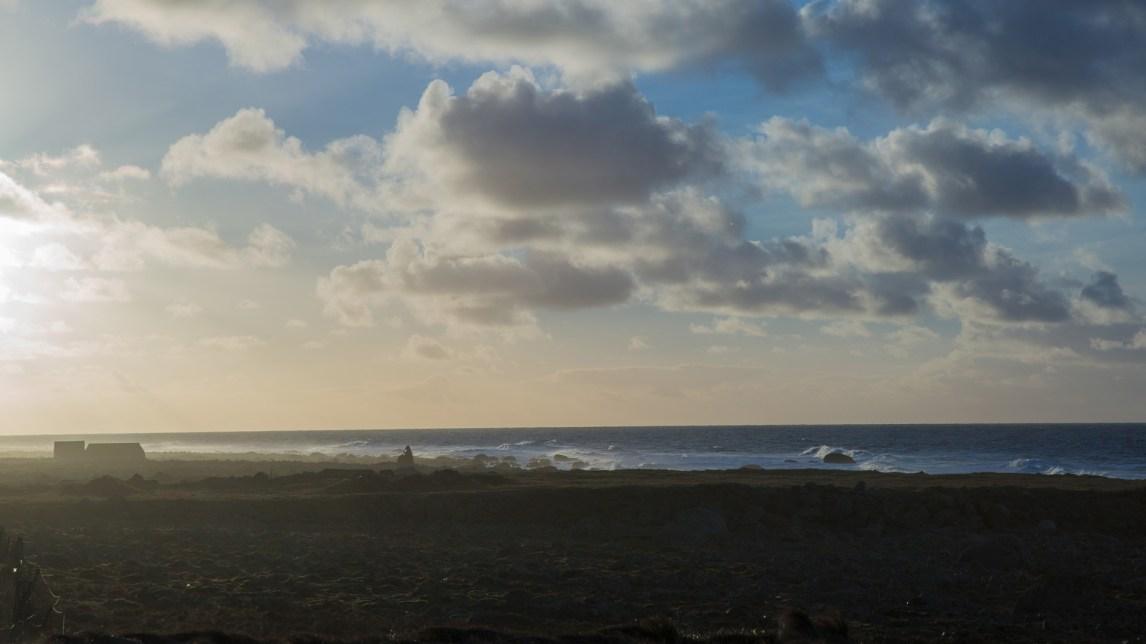 Utsikten ved «Brusand beach» på Jæren. (Foto: Lars Erik Andreassen, NRK)