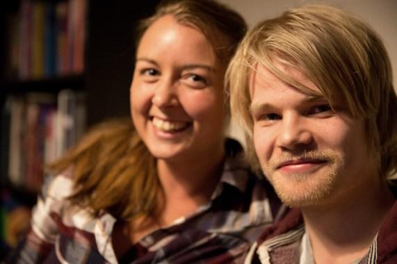 Maria (25) og Hogne (22). (Foto: Anne Dorte Lunås, NRK)