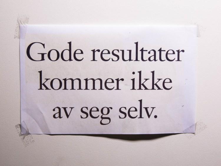 Motivasjonsplakat (Foto: Anne Dorte Lunås, NRK)