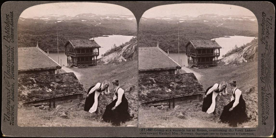 Sladder på sætra. Her fra Botten, Vaagslia. (Foto: Elmer Underwood / Nasjonalbiblioteket)