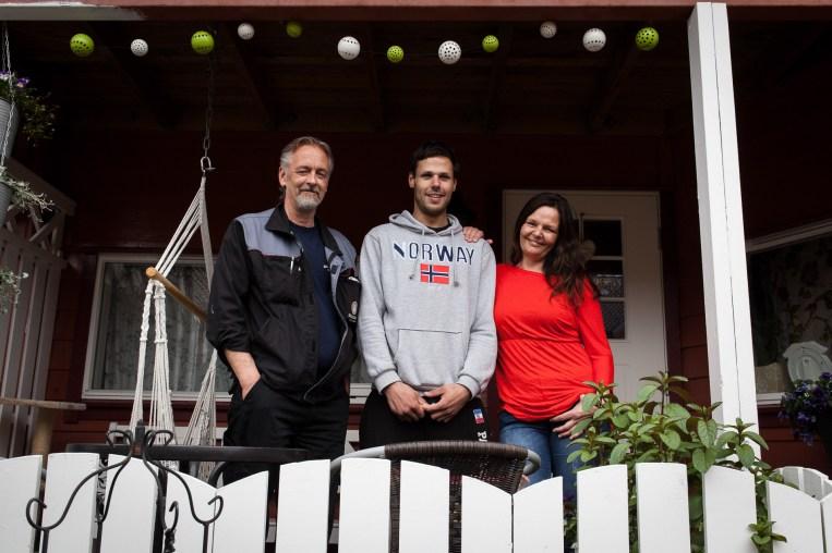 Familien i Åsane er verken rådløse eller rotløse. Foto: Matias Nordahl Carlsen