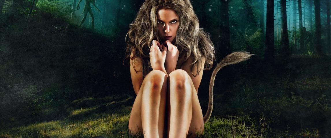 Fra filmposteren til den norske skrekkfilmen Thale, som er basert på norsk folklore og eventyrtradisjon - nærmere bestemt historiene om huldra.