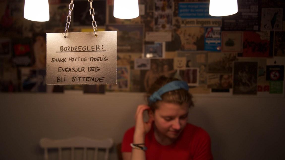 Den øverste regelen er myntet på Amanda.... (Foto: Anne Dorte Lunås, NRK)