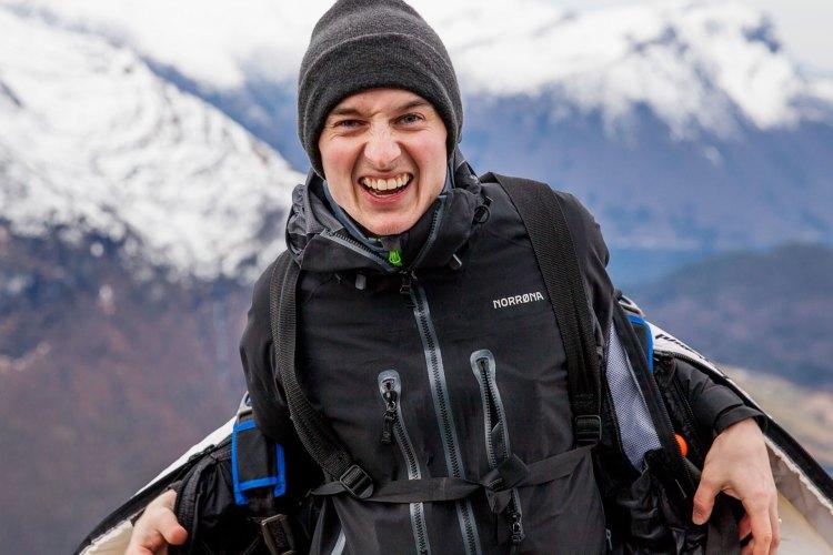 Anders er alltid nervøs - helt fram til utstyret er på og han står på kanten. Foto: Martin Aas, NRK P3