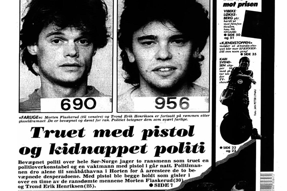 På begynnelsen av 1990-tallet var 25 år gamle Trond Henriksen (t.h.) på rømmen fra politiet. Han ble tatt til slutt. Foto: Faksimile / VG
