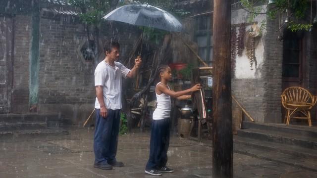 Jackie Chan måtte lære Jaden Smith Kung Fu - også i virkeligheten. (Foto: Sony Pictures)