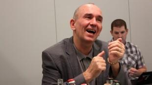 GamesCom 2010 - Peter Molyneux - Fable 3. (Foto: NRK / Martin Aas)