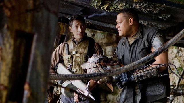 Adrien Brody og Laurence Fishburne i Predators. (Foto: 20th Century Fox)