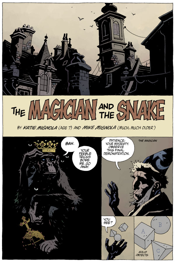 The Magician and the Snake (Ill: Mike Mignolia)
