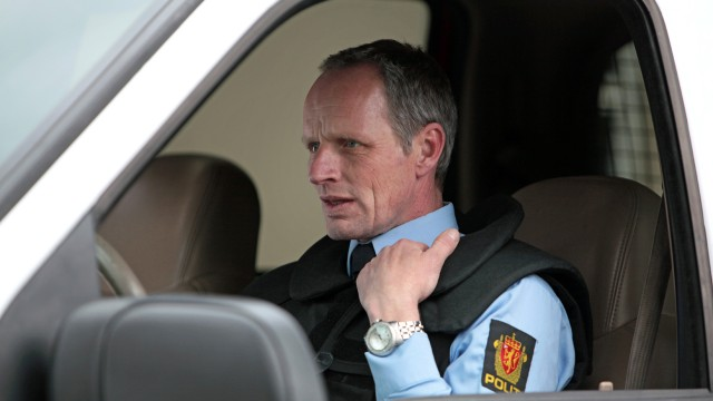 Morten Larsen spiller Arne Sigve Klungland i Nokas. (Foto: Alligator/Sandrew Metronome)