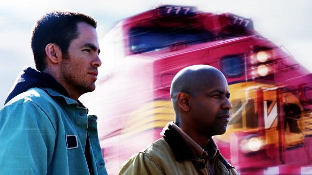 Chris Pine og Denzel Washington i Unstoppable. (Foto: FOX FILM)