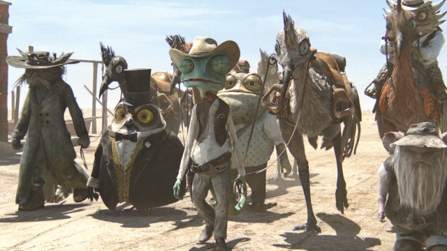 Rango med sin posse. (Foto: United International Pictures)
