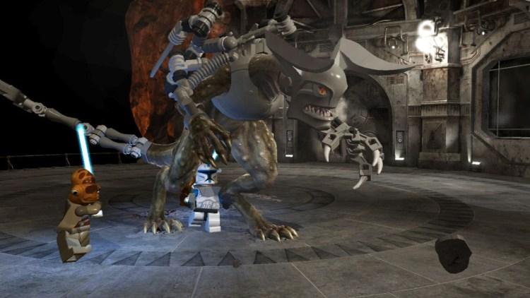 Du må kjempe mot både mann og monster i LEGO Star Wars III: The Clone Wars (Foto: Traveller's Tales/LucasArts).