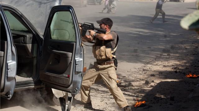 Frankie i aksjon i Irak. (Foto: AS Fidalgo)