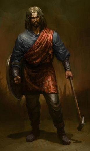 Personlig likte jeg Mel Gibson som William Wallace bedre. Konseptkunst fra Deadliest Warrior: Legends (Foto: Spike Games).