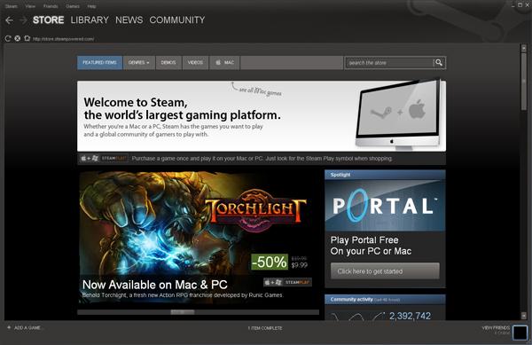 Steam-klient. (Foto: Steampowered.com)
