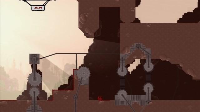Det sadistisk vanskelige Super Meat Boy er et av mange spill som rir på den reaksjonære vanskelighetsbølgen. (Foto: Team Meat)