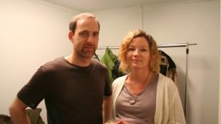Kyrre Haugen Sydness og Siri Helene Müller spiller i André Øvredals nye kortfilm (Foto: Remi Myhr Horgar/NRK).