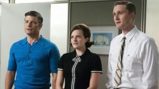 Jay R. Ferguson, Elisabeth Moss og Aaron Stanton i Mad Men sesong 5 (Foto: AMC).