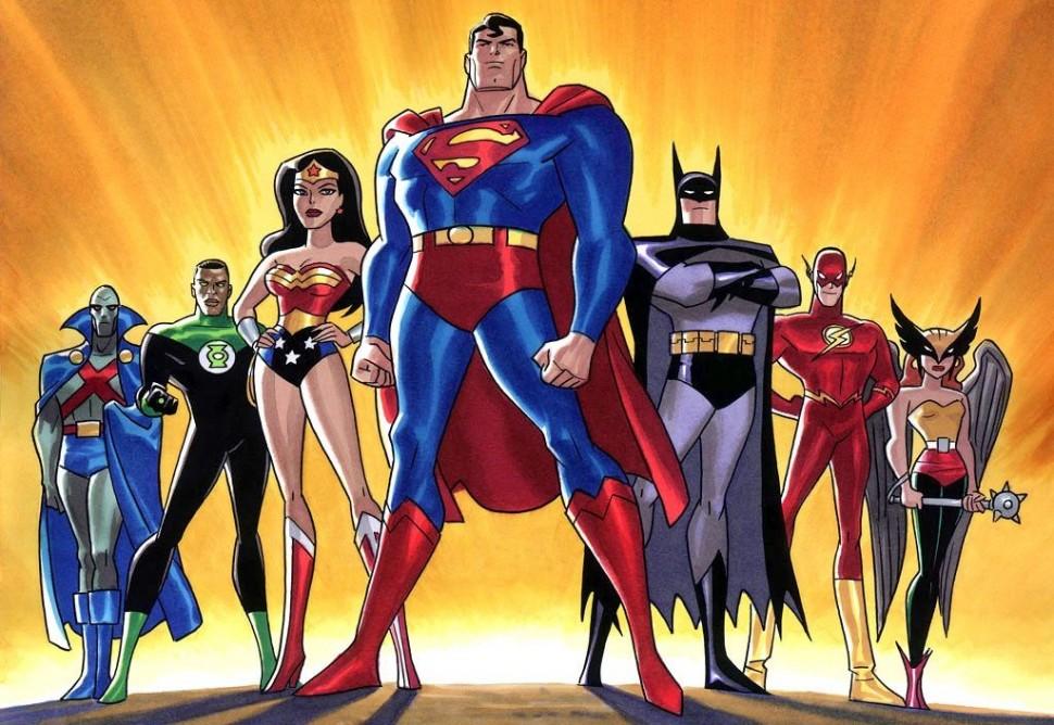 Den vanlegaste samansetninga av Justice League of America. (Foto: DC Comics)