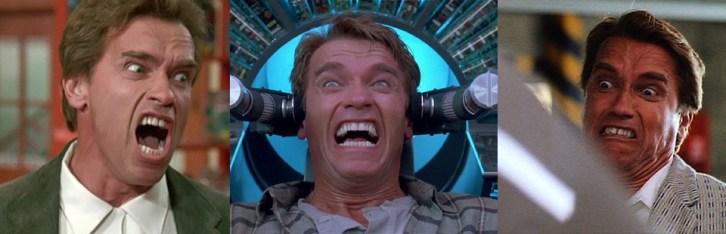 Arnold Schwarzeneggers mange ansikter. (Foto: SF Norge)