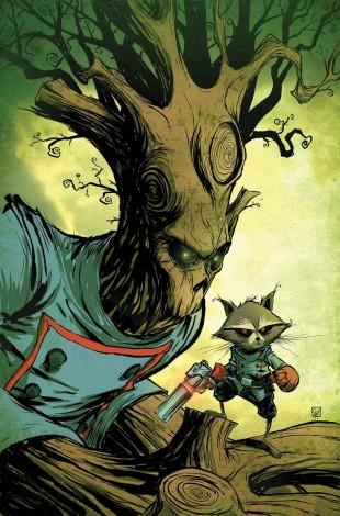 Groot og Rocket Raccoon