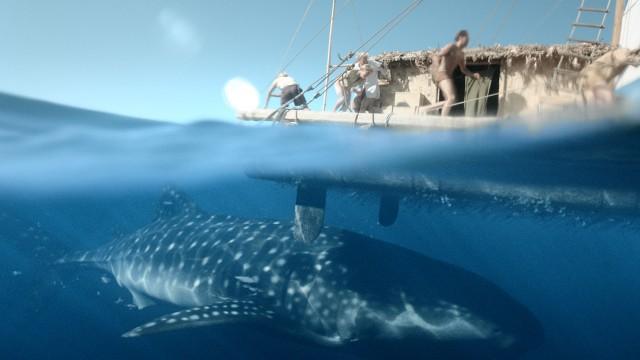 Flåten får besøk av noe stort (Foto: Nordisk Film / VFX ved Fido).