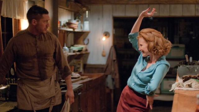 Tom Hardy og Jessica Chastain i Lawless (Foto: SF Norge AS).