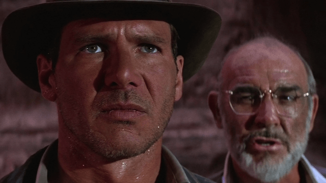 Harrison Ford og Sean Connery spiller sammen i The Last Crusade (Foto: Paramount Home Entertainment).