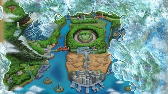 Landet Unova, slik det ser ut i Black og White 2 (Foto: Nintendo).