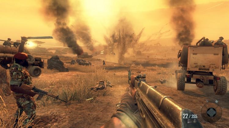 Savanneslag i Angola i Call Of Duty: Black Ops II (Foto: Treyarch/Activision/Microsoft).
