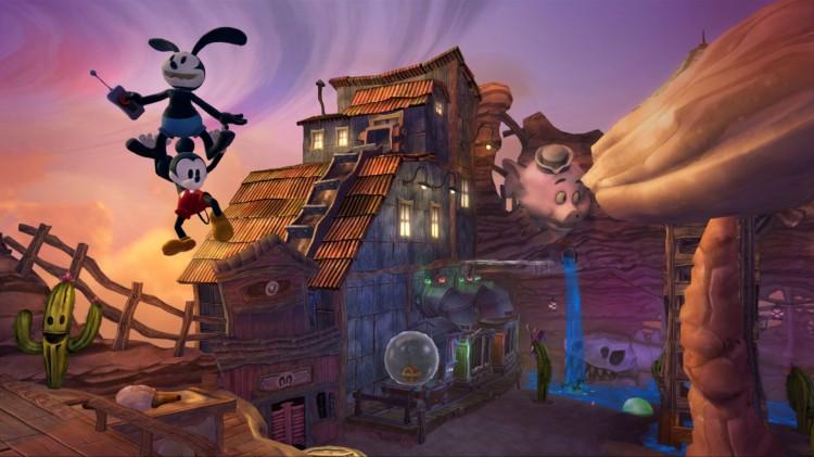 Skjermbilde fra «Epic Mickey 2: The Power of Two». (Foto: Disney Interactive Studios)